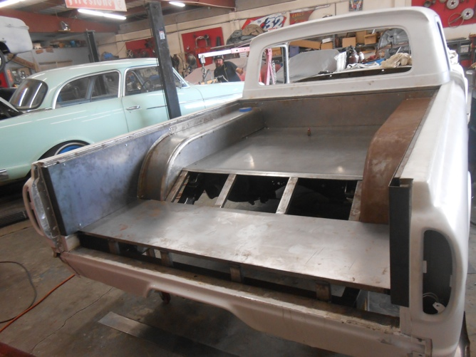 1962 Ford Unibody in the shop.