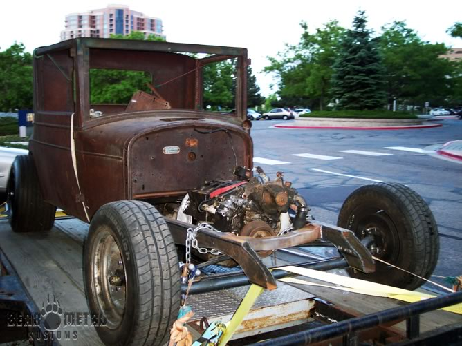 The Chrysler on it's way to it's new home: BMK
