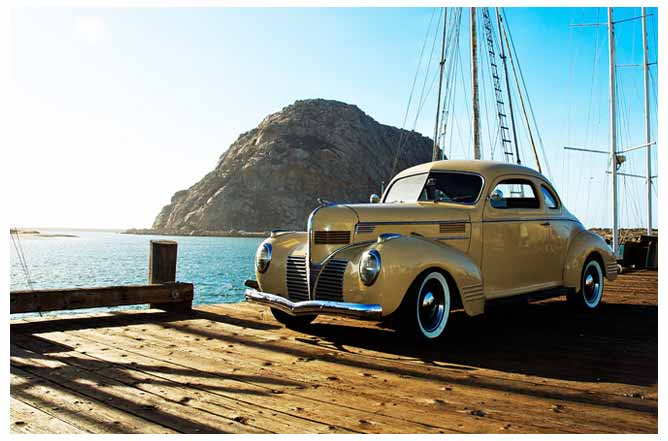 Front end of the Dodge on the pier in Morro Bay.